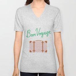 Bon Voyage \\ Suitcase Unisex V-Neck