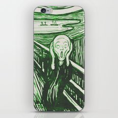 The Scream's Haze (green) iPhone & iPod Skin