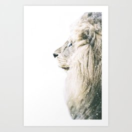 NORDIC LION Art Print