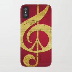 Music & Peace Sheet Music Slim Case iPhone X