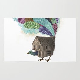 birdhouse revisited Rug