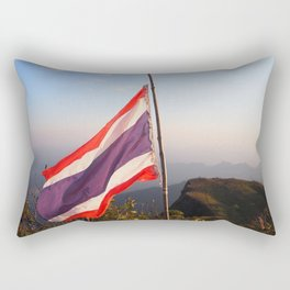 Thai flag on Mountain Rectangular Pillow