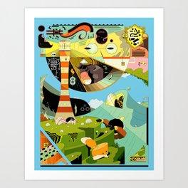 Crabhouse Art Print