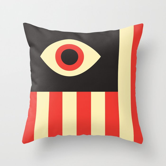 Stares and Stripes Throw Pillow