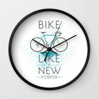 bike Wall Clocks featuring bike by CLOD