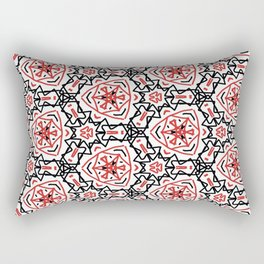 Frenetic from the Black & Red & White All Over Collection Rectangular Pillow