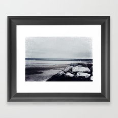 Winter Shore Framed Art Print