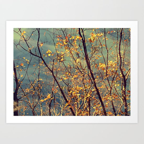 Change in Blue and Gold Art Print