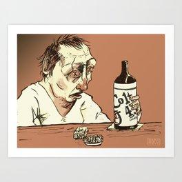 The Drunk Art Print