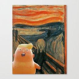 Trump Baby & The Scream Canvas Print