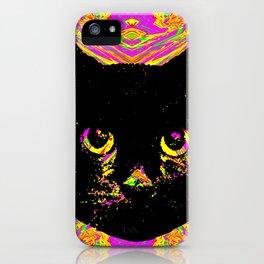 Purple Streak Quad Cat iPhone Case