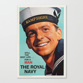 Royal Navy vintage poster Canvas Print