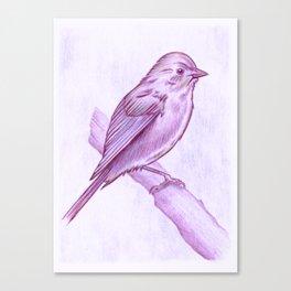My Royal Purple Tweeter Canvas Print