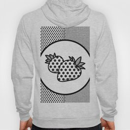 MONOCHROME POLKA DOT STRAWBERRY CONTRAST PATTERN Hoody
