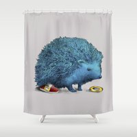 sonic Shower Curtains featuring Sonic (color option) by Eric Fan