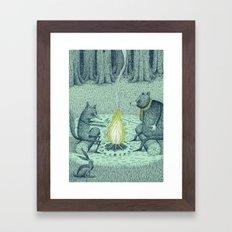 'Campfire' (Colour) Framed Art Print
