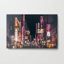 Tokyo Night Time Metal Print