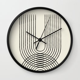 Arch duo 1 Mid century modern Wall Clock