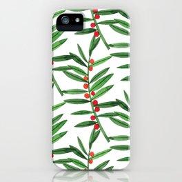 Christmas Botanical iPhone Case