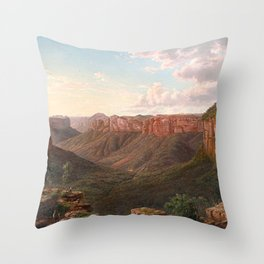 Govett's Leap and Grose River Valley, Blue Mountains, New South Wales by Eu von Guerard Date 1873  R Throw Pillow