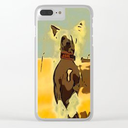 Chinese crested 4 Clear iPhone Case