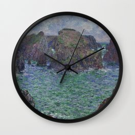 Belle-Ile by Claude Monet Wall Clock