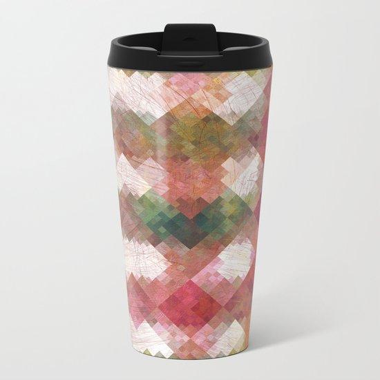 Aztec Vintage Pattern 04 Metal Travel Mug