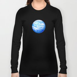 Illustration of watercolor round planet Long Sleeve T-shirt