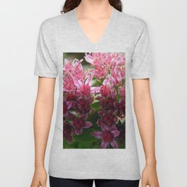 Sedum Flowers and the Ant Unisex V-Neck