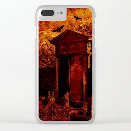 Creepy cemetery Clear iPhone Case