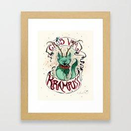 Gruss Vom Krampuss Framed Art Print