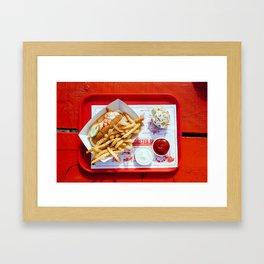 lobster red Framed Art Print