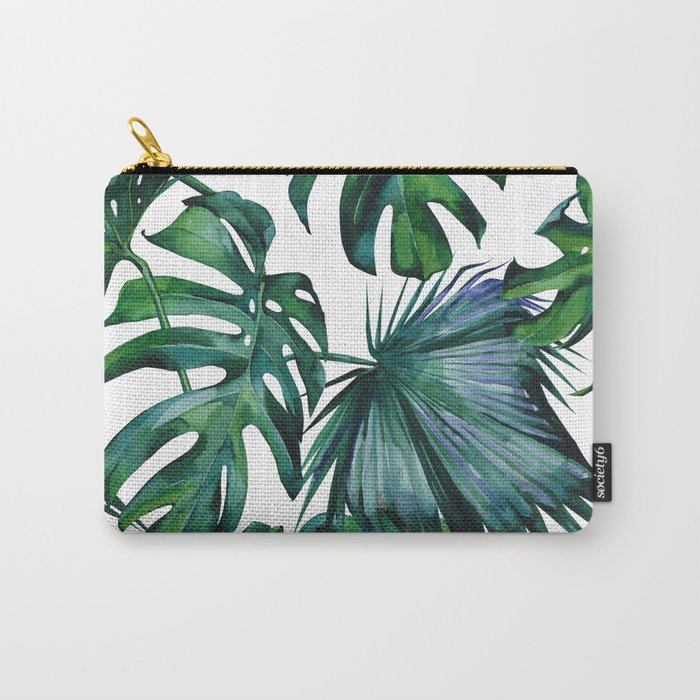 Tropical Palm Leaves Classic Carry-All Pouch