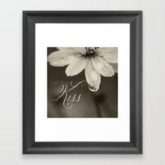 Let the Rain Kiss You Framed Art Print