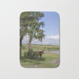 Wild Horse roams free on Cumberland Island, GA Bath Mat
