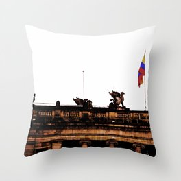 Plaza Of Bolivar, Colombia. Throw Pillow