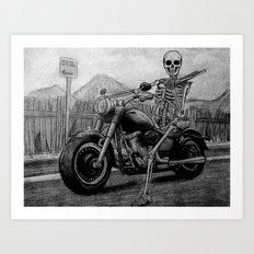 Skeleton Fat Boy Art Print