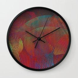 Colorful digital art Wall Clock