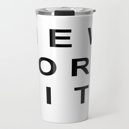 New York City Typography Travel Mug