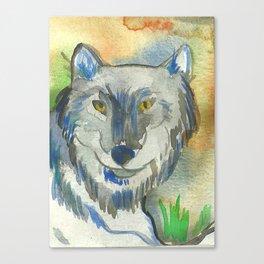Grey Wolf Canvas Print