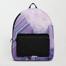 Glitch Valley at Night Backpack