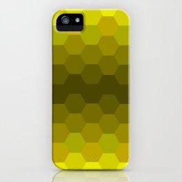 Yellow Honeycomb Fade iPhone Case