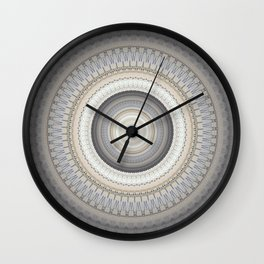 Blue Grey Vintage Mandala Wall Clock