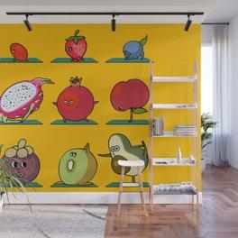 Super Fruits Yoga Wall Mural
