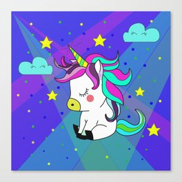 Love Unicorn Canvas Print
