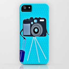 Camera on a photographic trip iPhone Case