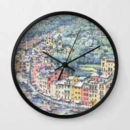 Portofino dal mare Wall Clock