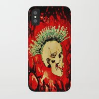 health iPhone & iPod Cases featuring MENTAL HEALTH - 025 by Lazy Bones Studios