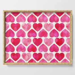 RUBY HEARTS Serving Tray