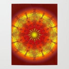 Mandala - verschlungene Wege Poster
